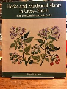 Herbs-and-Medicinal-Plants-Cross-Stitch-Gerda-Bengtsson-Danish-Guild-RETIRED