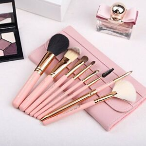 makeup brushes  8piece travel set w/carrying case  pink