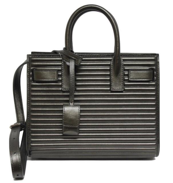 393220c5fb New  2550 Saint Laurent YSL Sac De Jour Nano Leather Anthracite Messenger  Bag