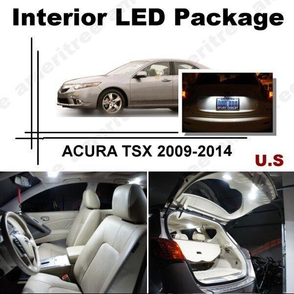 For Acura TSX 2009-2014 Xenon White LED Interior Kit