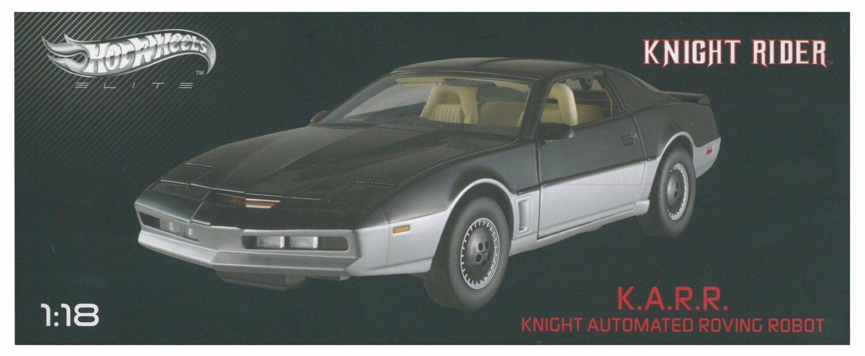 Hot Wheels Elite 1 18 Knight Rider K.a.r.r. Elite Nuevo bct86