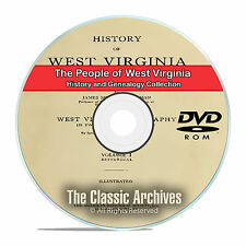 West Virginia, WV, People Cities Towns History and Genealogy 74 Books DVD CD B19