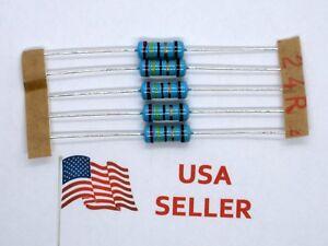 1W-1-Watt-1-Tolerance-Metal-Film-Resistor-5-Pieces-USA-SELLER