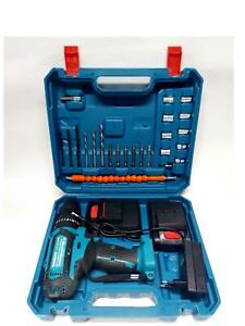 trapano avvitatore a batteria litio a percussione 26V  2 batteria + 24 accessori