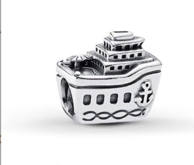 Genuine Pandora Sterling Silver Cruise Ship Charm retired 791043