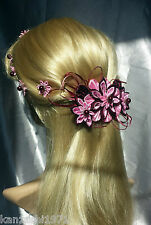 Franzözische Haarspange Haarschmuck Kanzashi Brautschmuck Stoffblume  Haarklemme