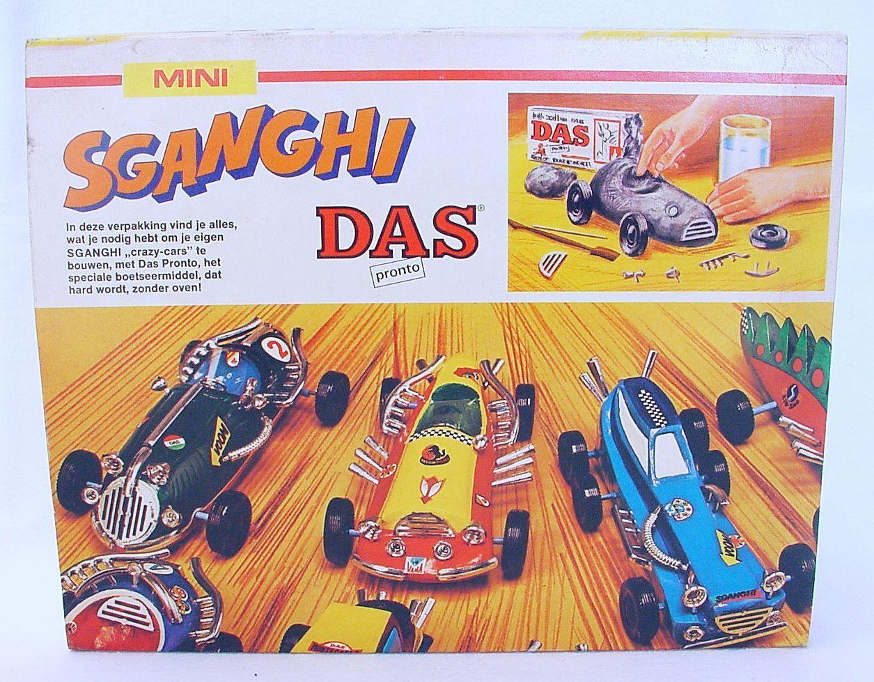 DAS Clay CRAZY-CARS Construction SGANGHI DEMOLITION DERBY Car MISB`70 VERY RARE