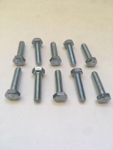 Bag of 10 M6 x 25mm Hex Cap Screw 1.0 Pitch Zinc Plated Grade 8.8 Steel 10