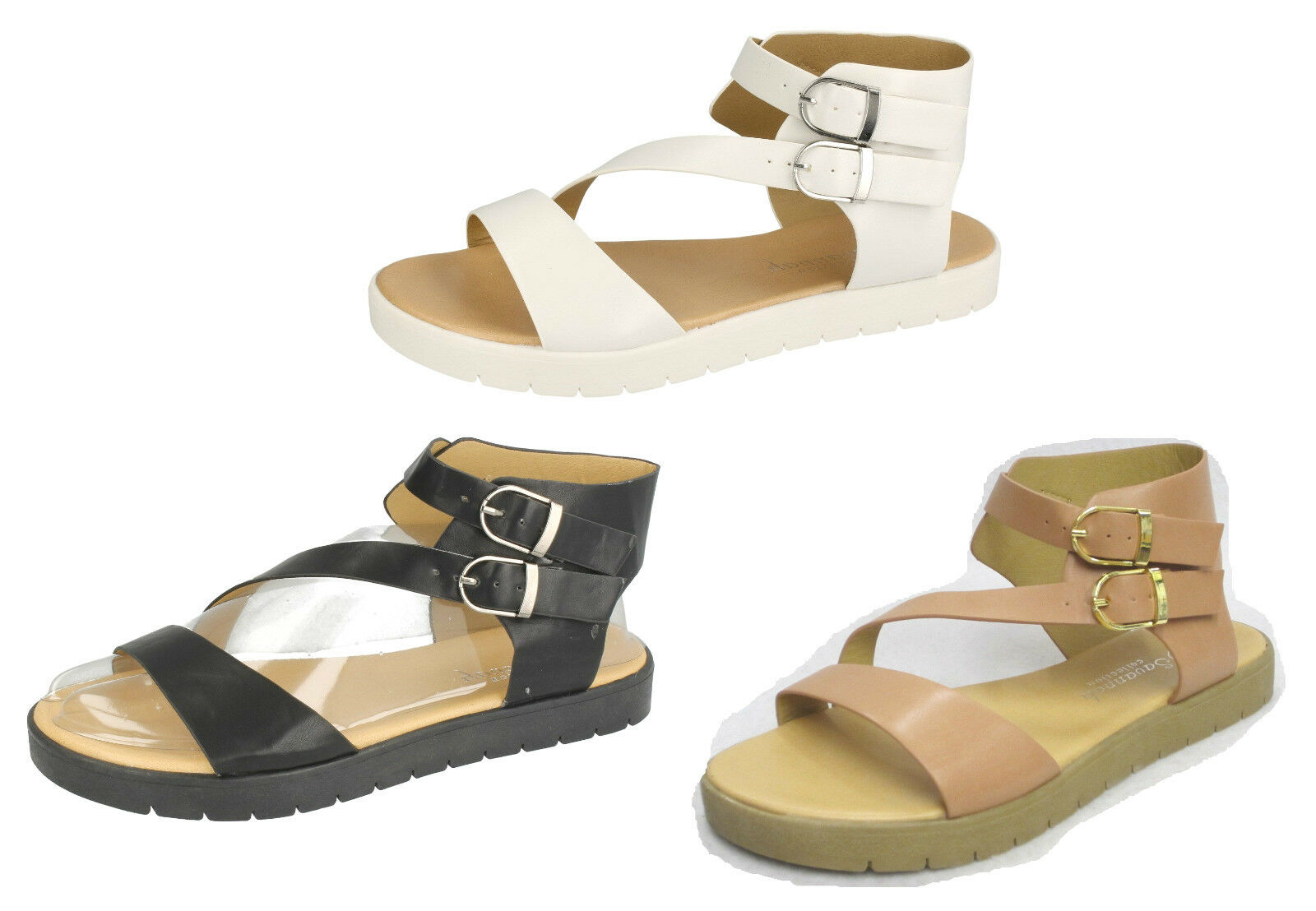 Ladies F0874S Gladiator Style Strappy Sandal Savannah in 3 Colours by Savannah Sandal 0575be