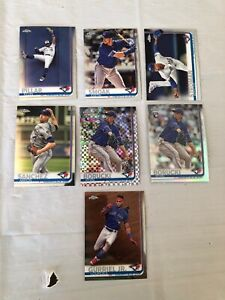 2019-Topps-Chrome-Baseball-Toronto-Blue-Jays-Lot-7-Cards-Refractor-Rookie-Prism