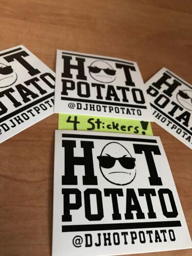 4 HOT POTATO Stickers Skateboard Sticker Graffiti Laptop Luggage Car Decals lot