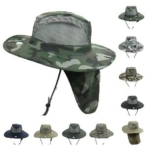 Bucket-Military-Hunting-Hiking-Fishing-Garden-Boonie-Neck-Cover-Sun-Flap-CAP