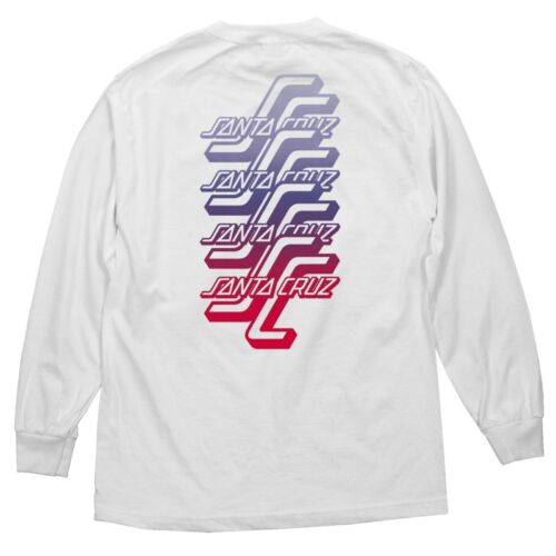 Santa Cruz OGSC SPLIT FADE LONG SLEEVE Skateboard Shirt WHITE XXL