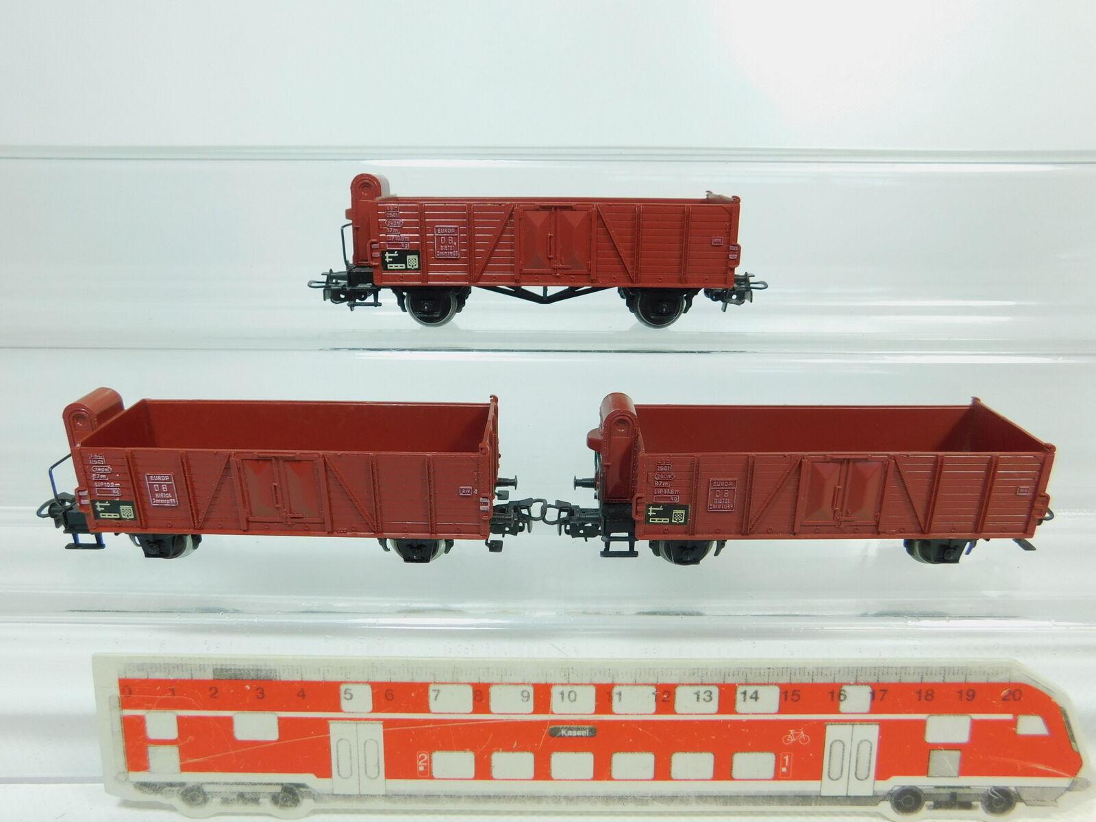 Bp713-0, 5 x Märklin H0 Ac 4601 (311 1) Open Goods Wagon High-Sided Wagon Db
