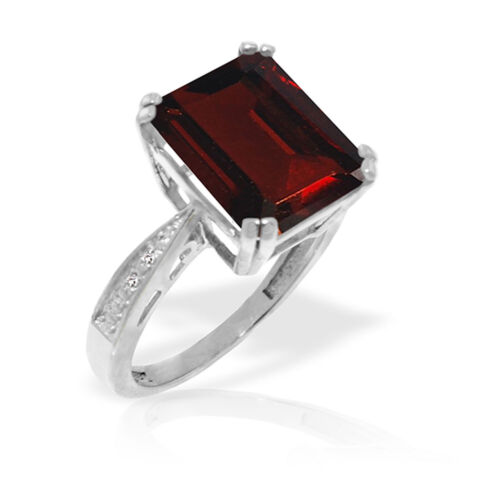 Details about  /7.52 CTW Platinum Plated 925 Sterling Silver Ring Natural Diamond Garnet
