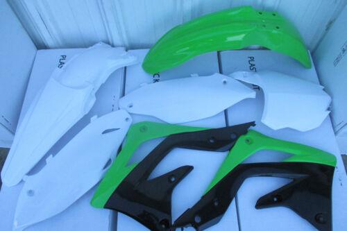 RACE TECH REPLICA KAWASAKI PLASTIC KIT  KX450F FENDERS SHROUDS 2013 2014 2015