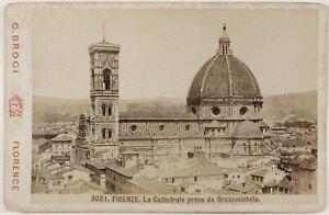 Florence-Italia-Foto-Brogi-PL17c1n4-Cartolina-Armadio-Vintage-Albumina