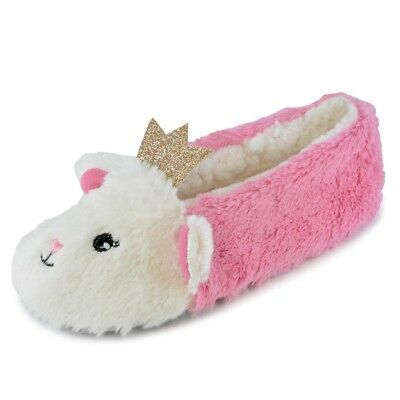 Niños Niñas Princesa Corona novedad Gato Zapatillas 3D Rosa Blanco Tallas 9 - 3