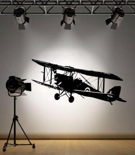 RAF Tiger Moth Military Aircraft Vinyl Home Wall Decal Sticker VE27