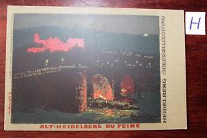 Consciencieux Carte Postale Vue Carte Bade-wurtemberg Alt Heidelberg Tu Fine-erg Alt Heidelberg Du Feine Fr-fr Afficher Le Titre D'origine