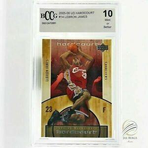 2005-06-UPPER-DECK-HARDCOURT-14-LEBRON-JAMES-CARD-BGS-BCCG-10-Mint