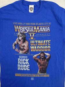 Bildschoene-Rick-Rude-VS-Ultimate-Warrior-umnd-V-5-WWE-WRESTLING-T-Shirt