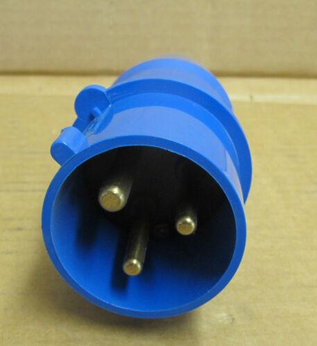 Bals Cee Norm 3 pin 240v Plug Plug Top IP44 Blue Type 21013