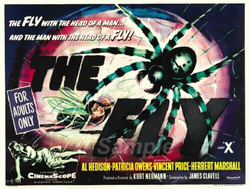 VINTAGE THE FLY MOVIE POSTER A4 PRINT