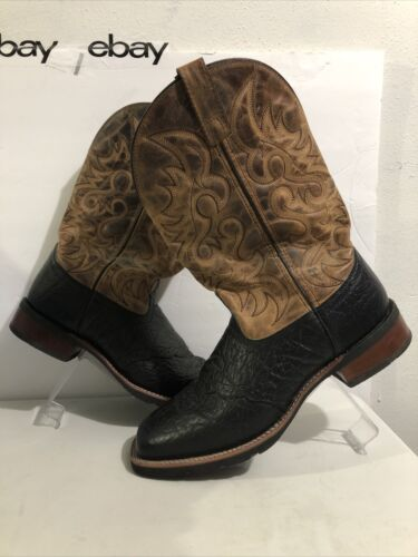 Laredo 7824 Topeka Tan & Black Leather Square Toe