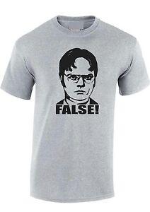 97d296a12 Dwight Schrute False The Office T SHIRT TEE classic TV Unisex mens ...