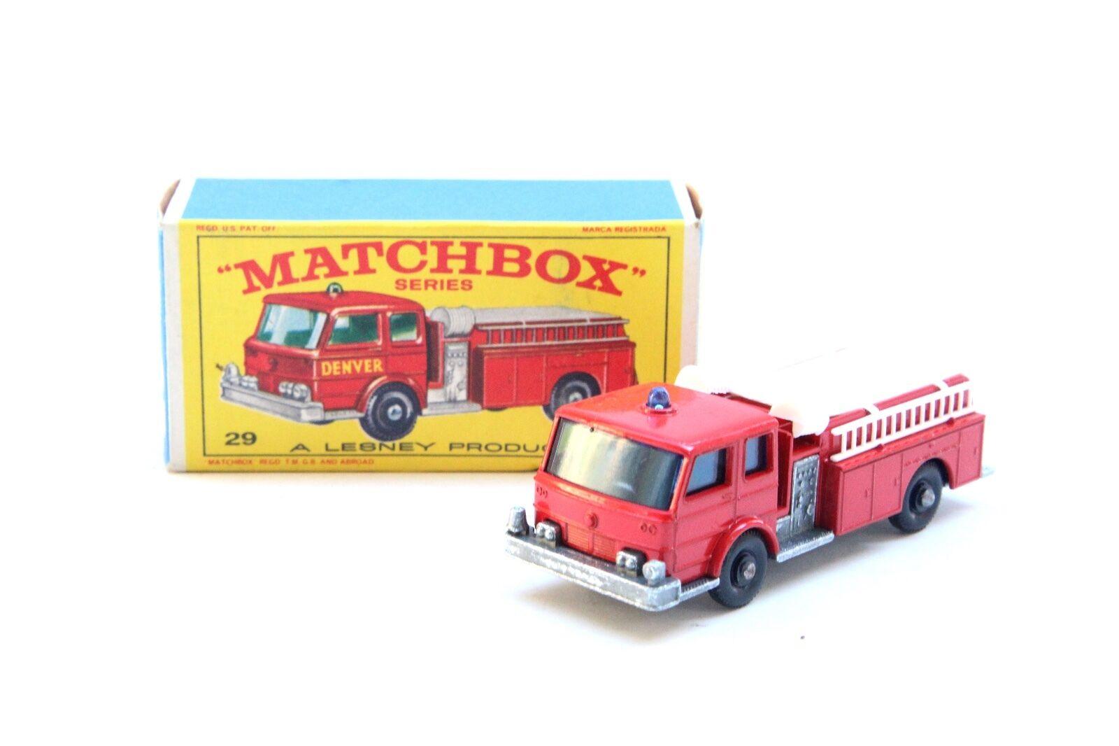 Vintage Matchbox Lesney  29 FIRE PUMPER avec boite