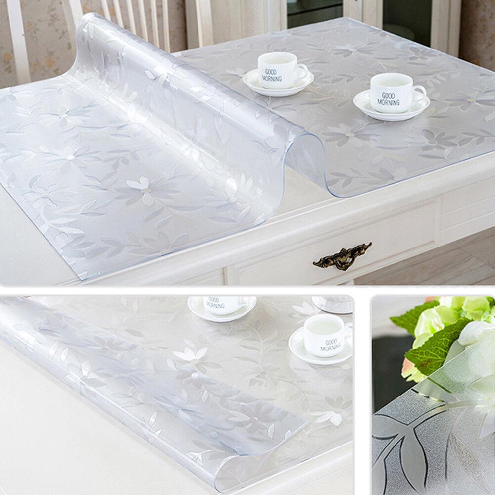 1.5 mm Imperméable PVC Transparent Nappe Prougeecteur Clair Table Cover Mat