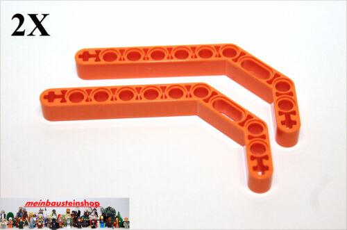 2X Lego® 32009 Technic gebogene Liftarme Beams 1X11,5 Orange NEU