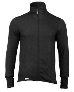 Woolpower Thermo Jacket 400 Black Outdoor Jacke Merino Wolle Mid Layer Schwarz