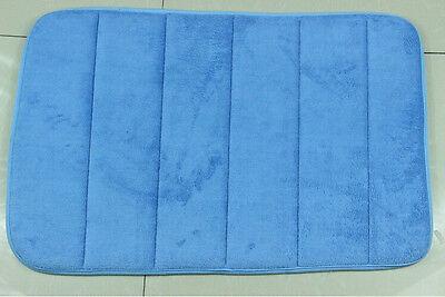 "New Memory Foam Bath Mats Bathroom Horizontal Stripes Rug Non-slip Mats 17""x24"""