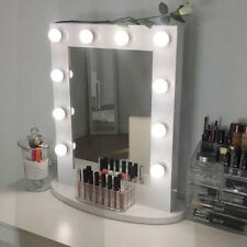 White Vanity With Mirror And Lights. White Hollywood Makeup Vanity Mirror with Light Aluminum Gift Tabletops Lighted Dimmer 12