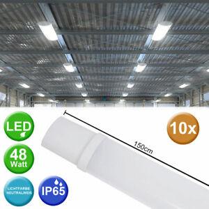 10x-48W-LED-Plafond-Baignoires-Lampes-Feucht-Raum-Sous-Sol-Eclairage-Garages