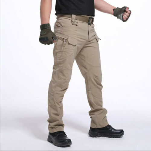 HOT Outdoor Combat Cargo Men Straight Tactical Pants Army Military Camo Trousers