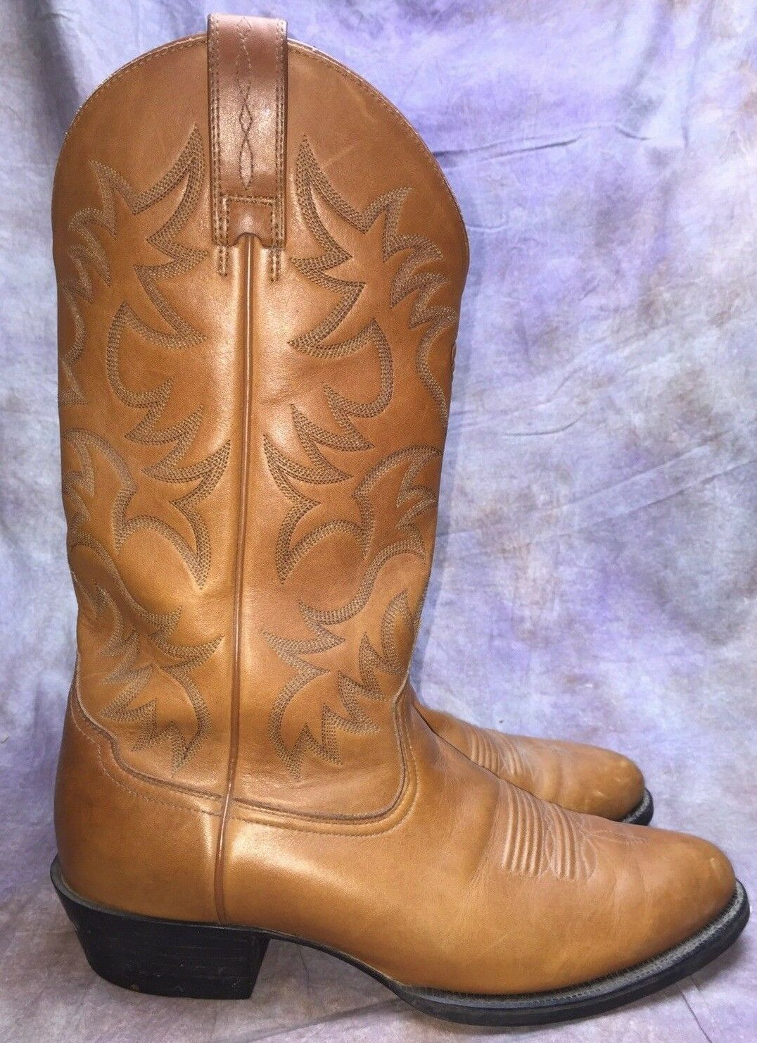 SBO ARIAT RANCHER BRN LEATHER COWBOY WESTERN WORK BOOTS SZ 11 D