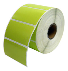Details about 1 Roll 2 25 x 1 25 Direct Thermal Zebra GREEN Color LP2824  ZP450 LP2844