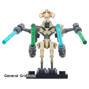 General-Grievous-Gold-Star-War-9-Mandalorian-Baby-Yoda-Minifigures-Lego-MOC