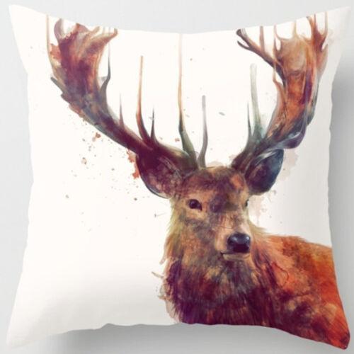 Cute Animal Pillow Cover Throw Pillow Case Sofa Cushion Cover Home Decor 18/'/'