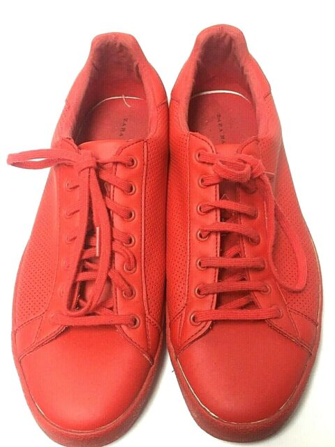 Zara Man Red SNEAKERS Trainers Shoes