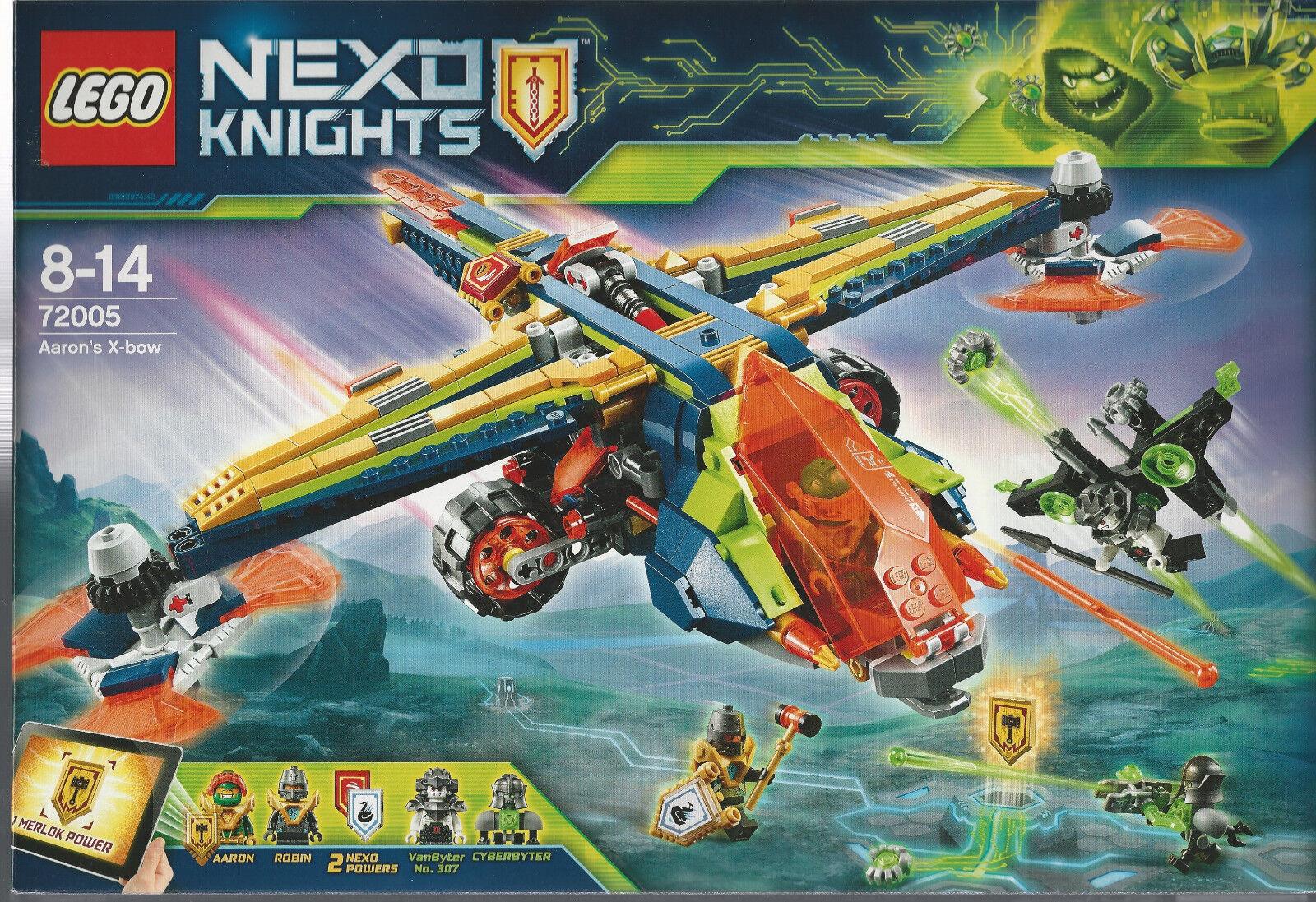 LEGO NEXO KNIGHTS 72005 AARON'S X-BOW  nuovo sigillato NIB w 4 minifigures
