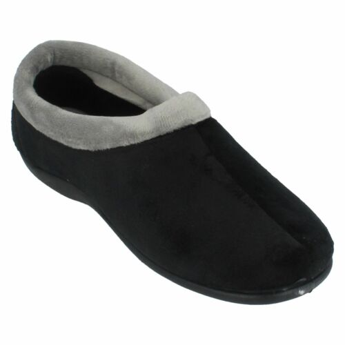 Ladies Black Slip On Seephhh Cushioned House Slippers Tina