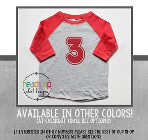 Image Is Loading 3 Birthday Shirt Toddler Boy Girl Raglan Twins