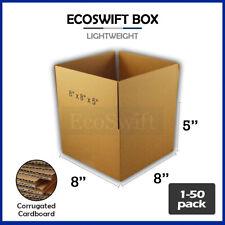 1 50 8x8x5 Ecoswift Cardboard Packing Mailing Shipping Corrugated Box Cartons