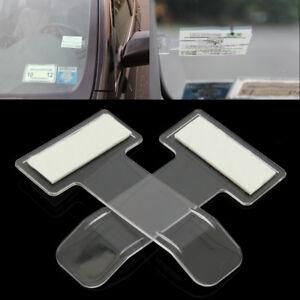 2Pcs-Voiture-Auto-Clip-Porte-Carte-Billet-Ticket-Permit-Pince-Pare-brise-Support
