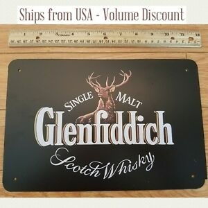 Glenfiddich-Sign-Glenfiddich-Scotch-Whisky-Sign-Metal-Sign-Tin-Art-Whiskey-Retro