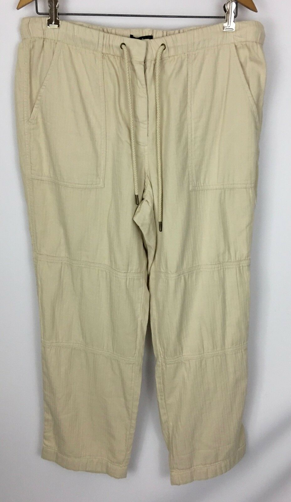 J. Crew Beige Casual Cotton Drawstring Cropped Pants Size 16